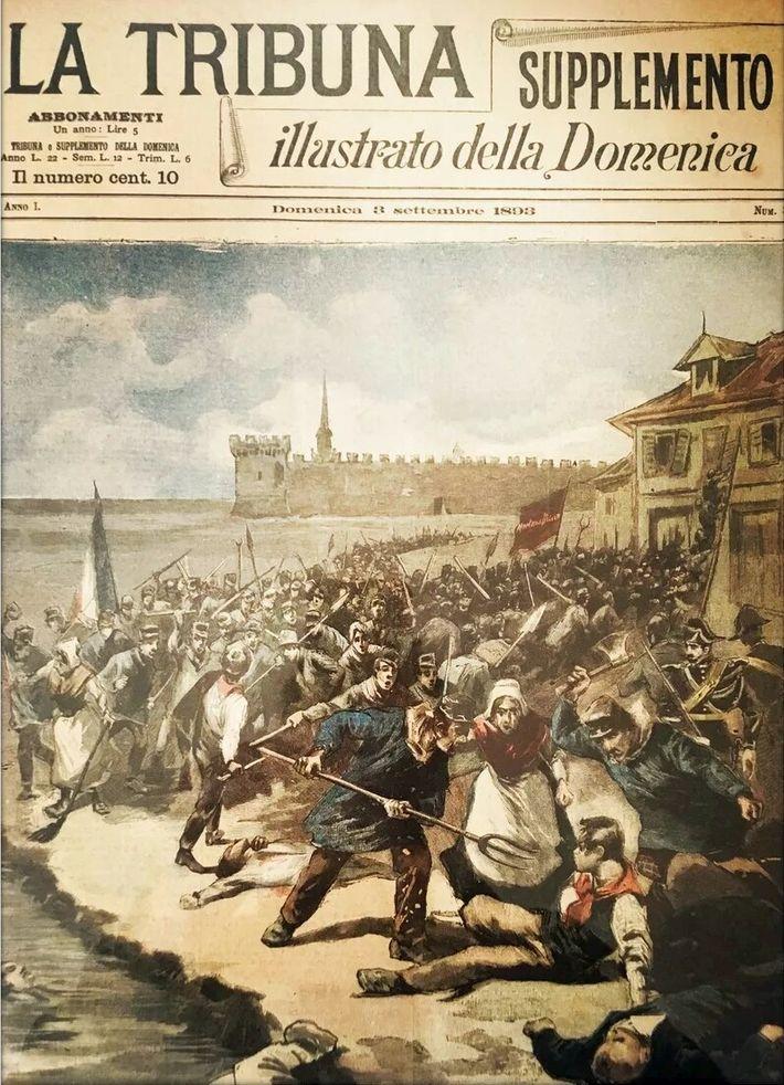 Massacre des ouvriers saliniers italiens à Aigues-Mortes en 1893.