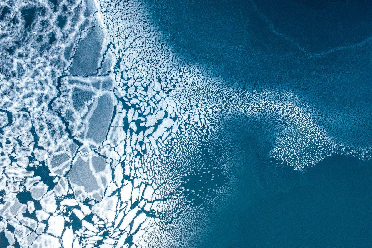 3 ème prix Nature : Formation glacière (Est du Groenland), de Florian.