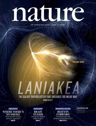 En 2014, la découverte de Laniakea faisait la couverture de la revue scientifique Nature.
