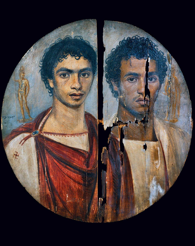 Le « Tondo des deux frères », découvert à Antinoupolis, une cité romaine établie sur le ...