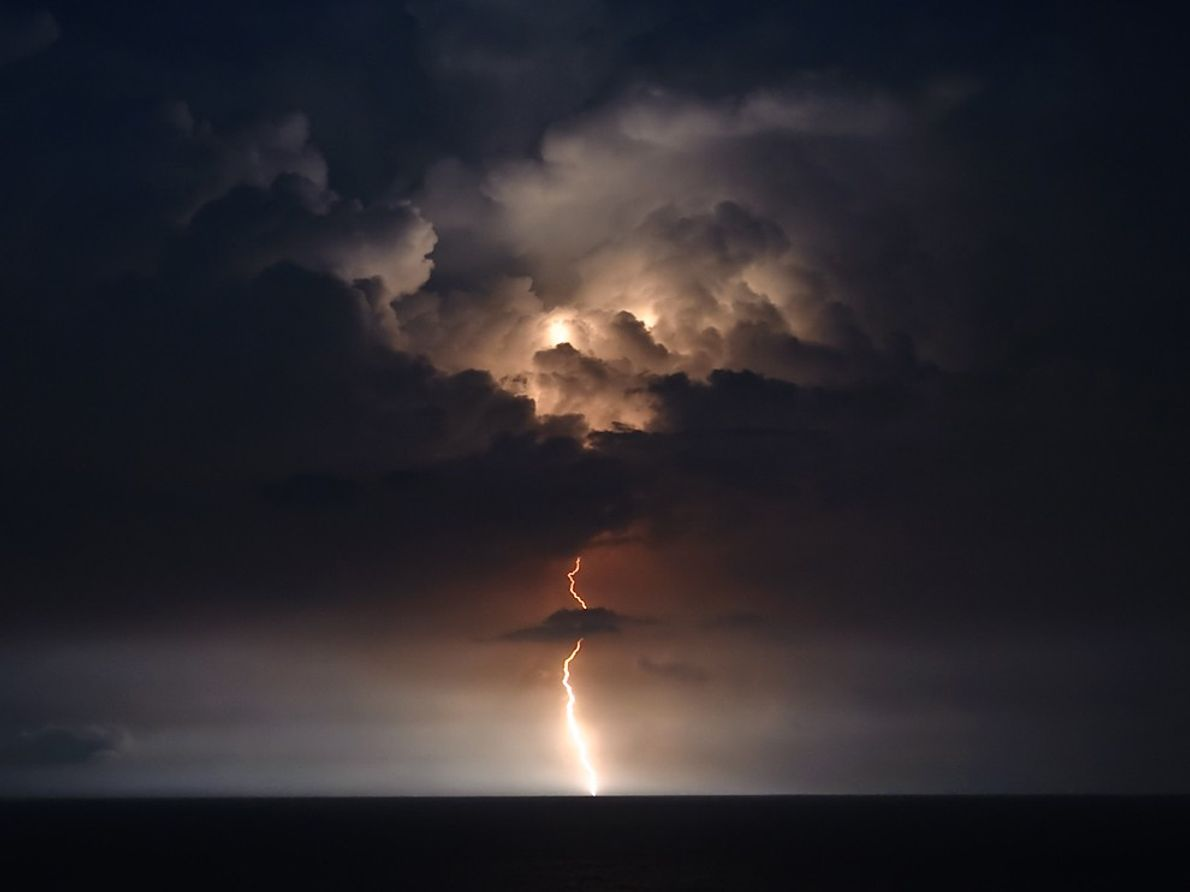 Éclair à Myrtle Beach, Caroline du Sud, États-Unis