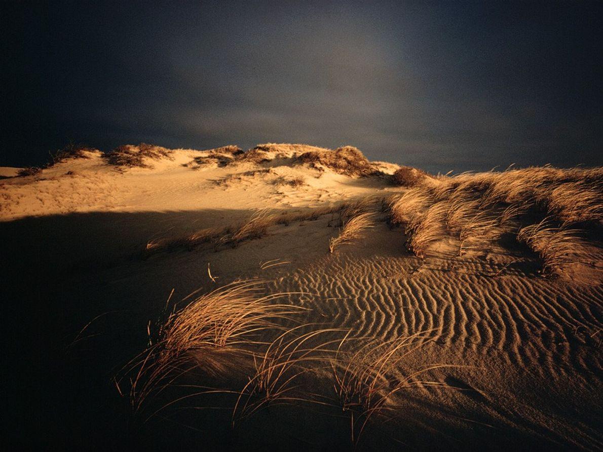 Crépuscule, Nauset Beach, Massachusetts, États-Unis