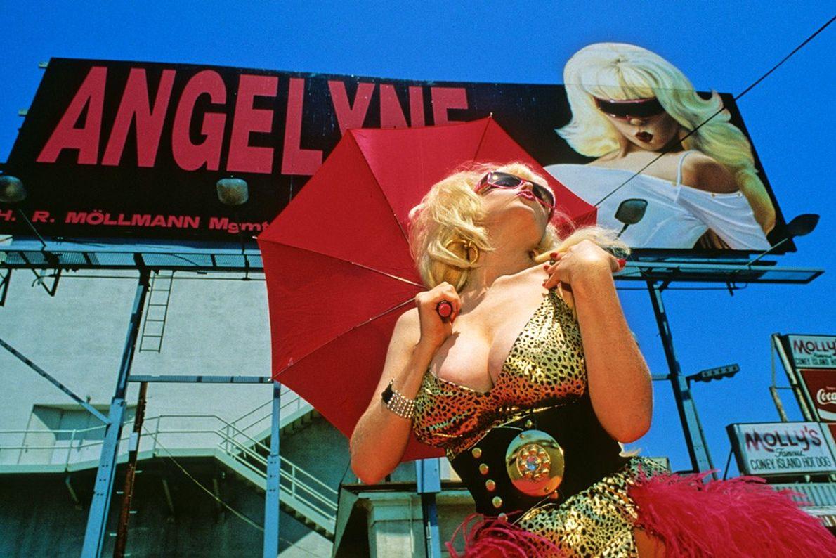Mannequin d'affiche, Sunset Boulevard - Le flash