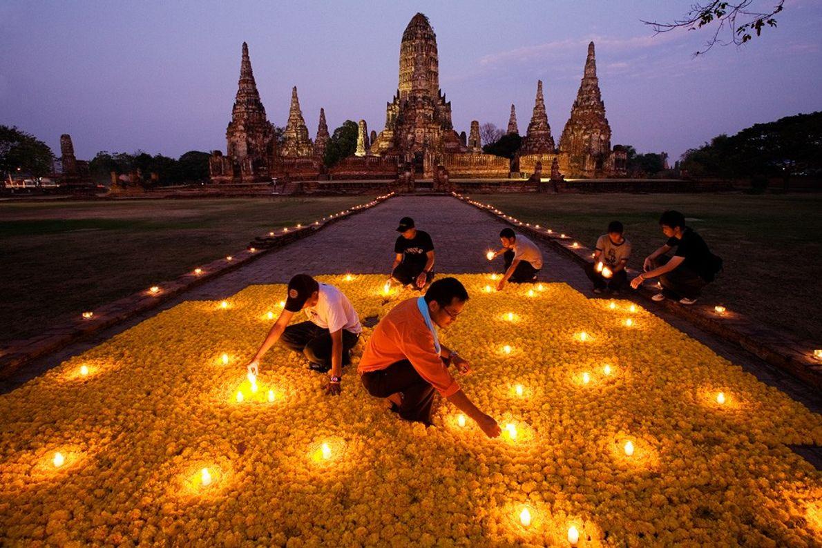 Hommage en fleur, Thaïlande