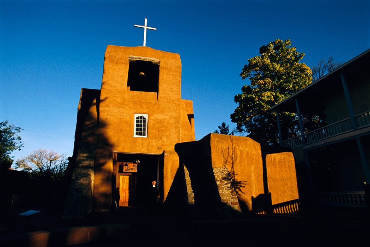 Mission San Miguel, Santa Fe - Tôt le matin ou après-midi tardif