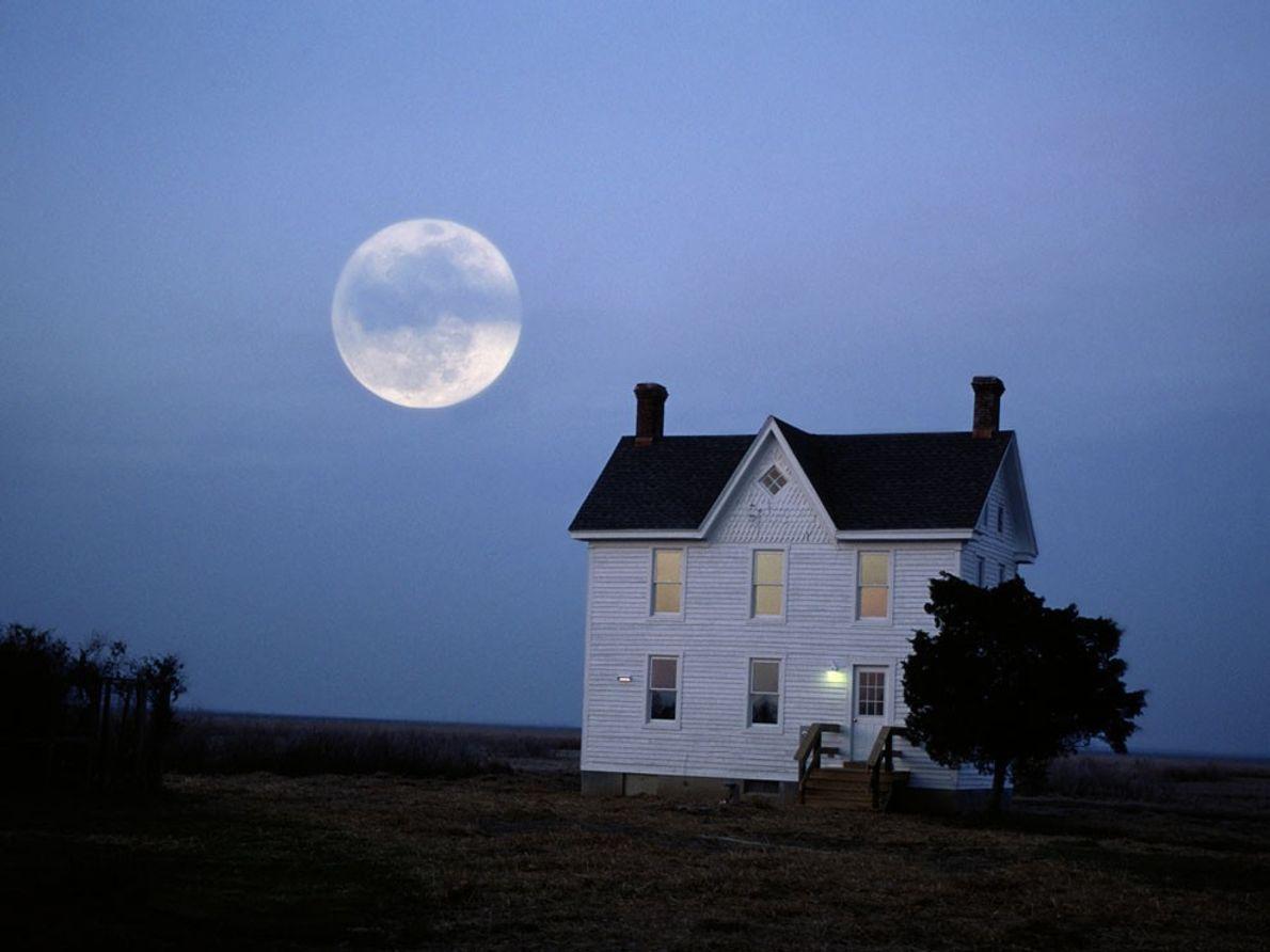 Clair de lune dans la baie de Chesapeake, États-Unis