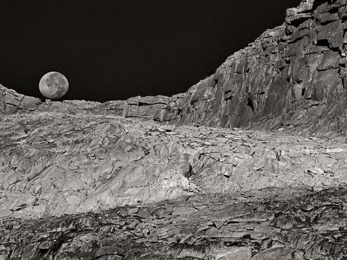 Lune et paysage, Californie