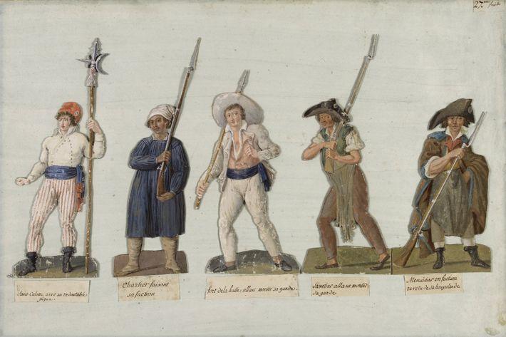 Les sans-culottes en marche. Jean-Baptiste Lesueur, Pierre-Etienne Lesueur. Musée Carnavalet, Paris.