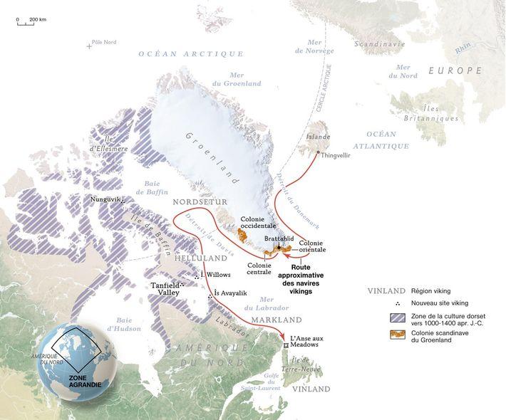 Le premier village viking du nouveau Monde a été découvert en 1960, à L'Anse aux Meadows. ...