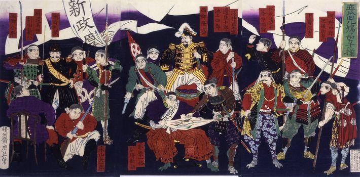 Les fidèles à Saigo Takamori Kogoshima réunis.
