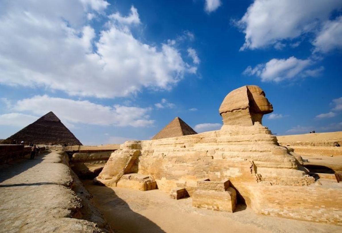 Les pyramides de Gizeh, Égypte
