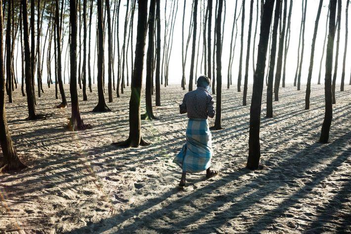 Certains Rohingyas vivent à l'extérieur des camps, près de la ville de Cox's Bazar, au Bangladesh. ...