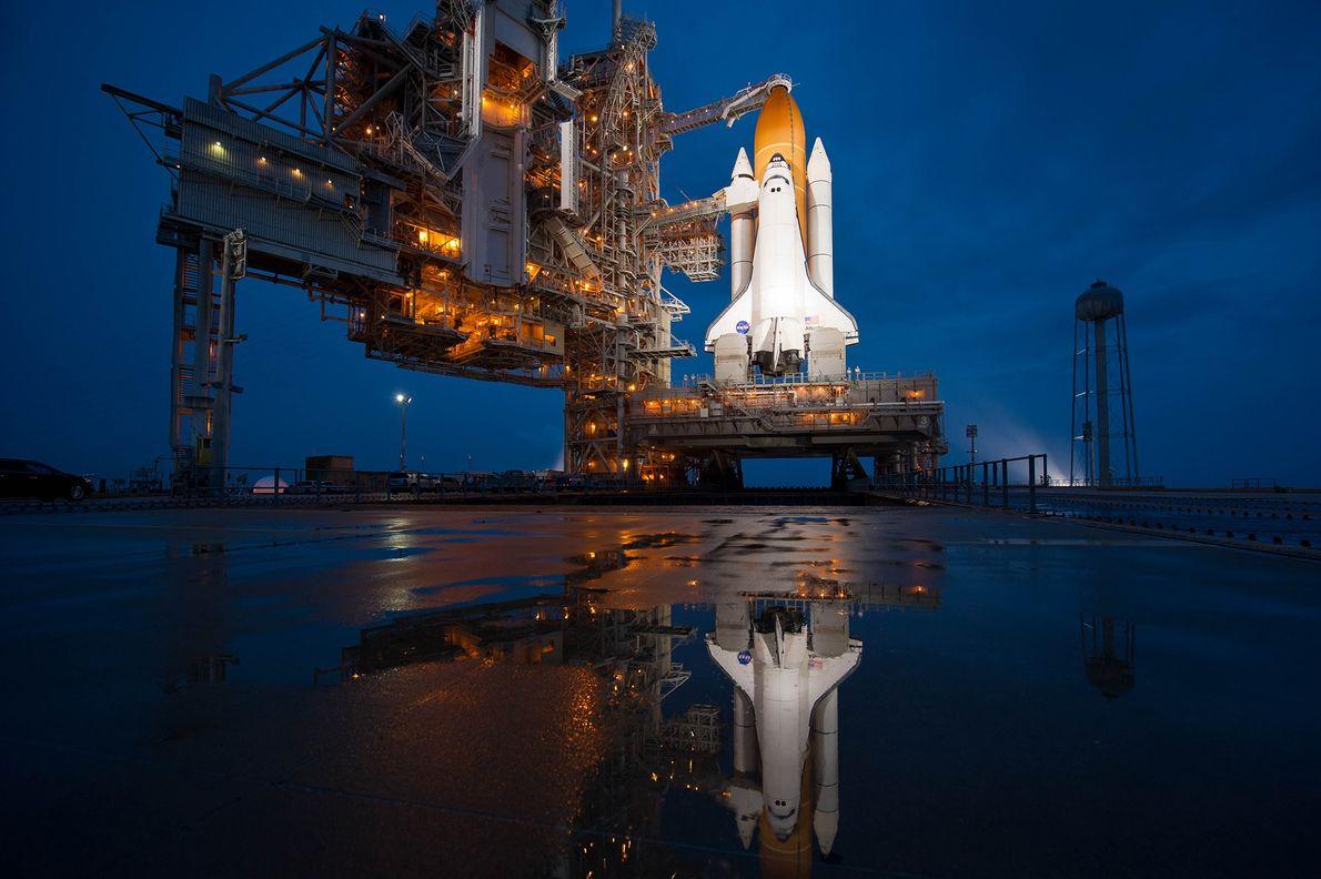 Le 7 juillet 2011, la navette spatiale Atlantis s'apprête à décoller pour une mission de 12 ...