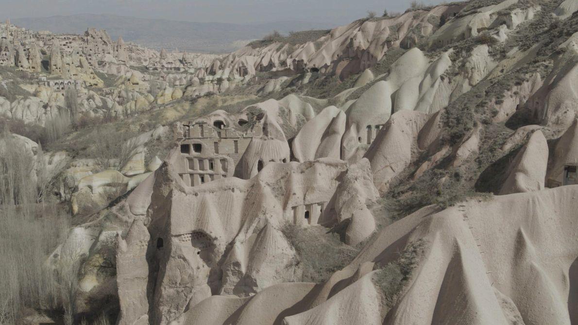 Turquie : le paysage singulier de la région de la Cappadoce s'est formé dans une ruine volcanique. ...