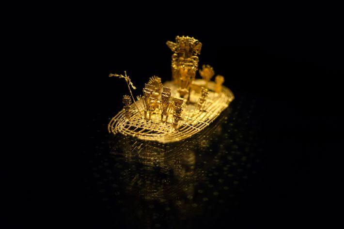 Le Radeau Muisca, ce canot et ses passagers en or, a été fabriqué par des artisans ...