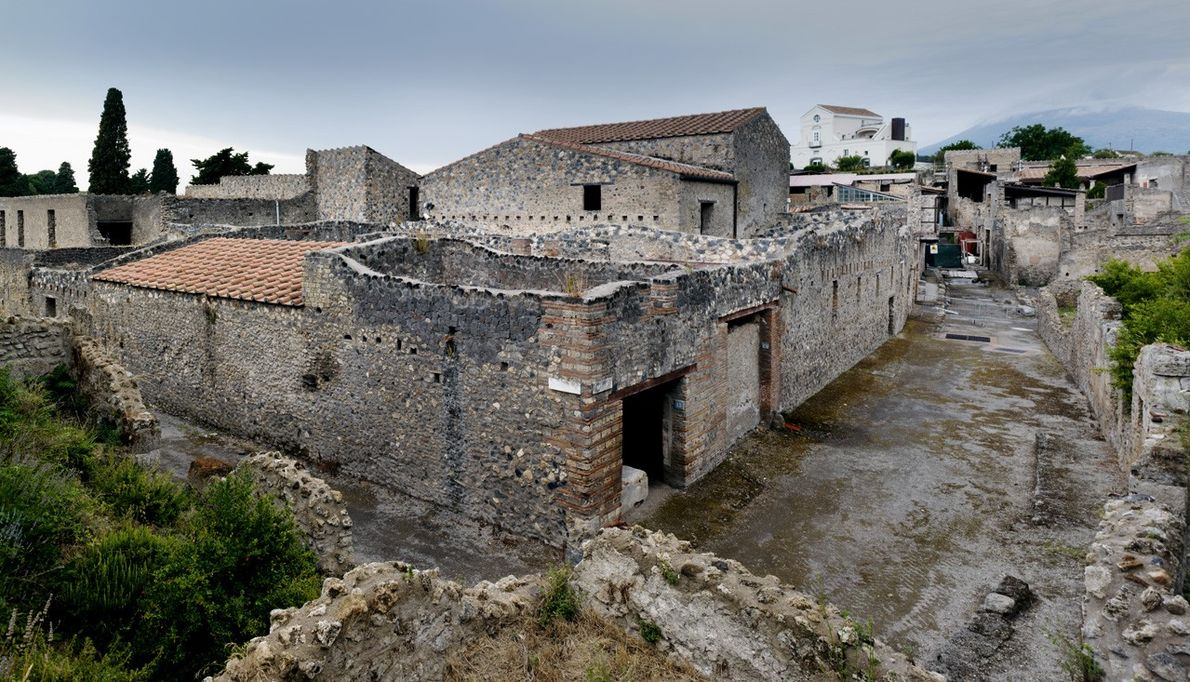 Les ruines de la villa Ménandre
