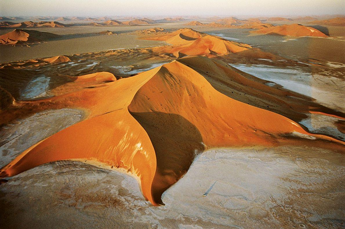 Dune étoilée dans le Rub Al-Khali (Arabie Saoudite)