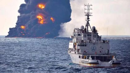 Mer de Chine : l'une des plus grandes marées noires de l'histoire vient de commencer