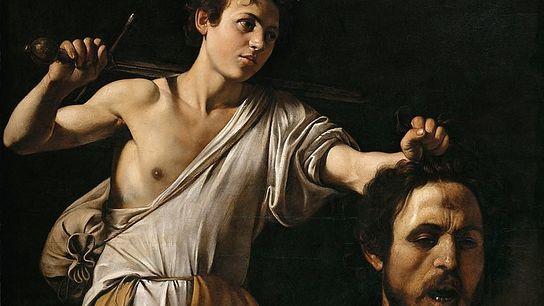 """""""David avec la tête de Goliath"""" a été réalisé par le peintre baroque Caravage réalisé vers ..."""