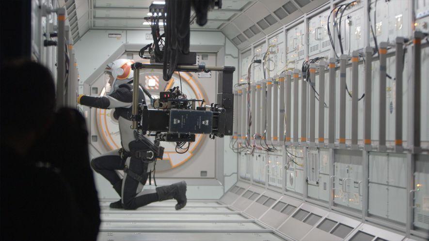 Image prise pendant le tournage de la saison 1 de Mars.