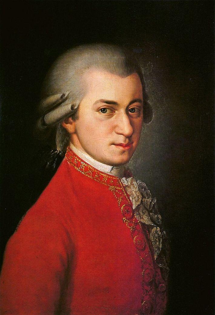 Ce portrait posthume de Wolfgang Amadeus Mozart a été réalisé par Barbara Kraft à la demande ...