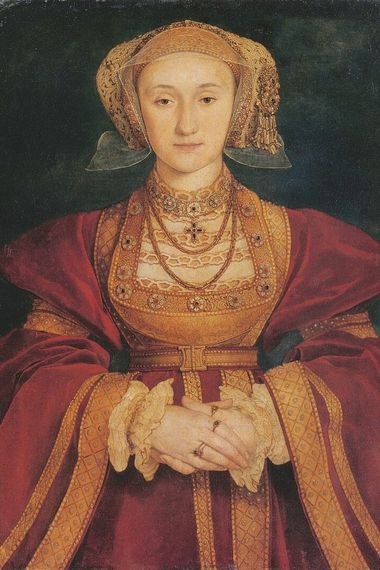 Anne de Clèves, la quatrième épouse d'Henri VIII ; portrait réalisé par Hans Holbein le Jeune en 1539.