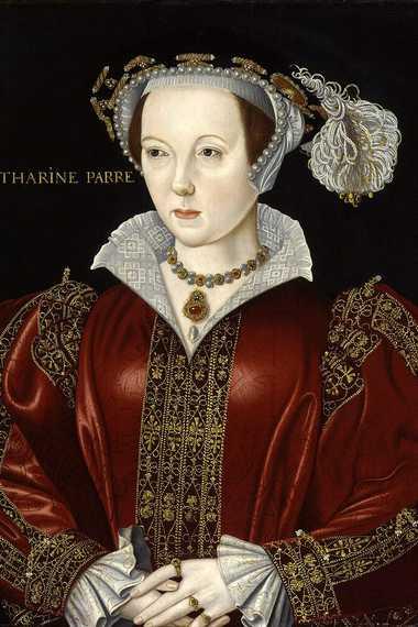 Catherine Parr, sixième épouse d'Henri VIII ; portrait attribué à William Scrots, vers 1545.