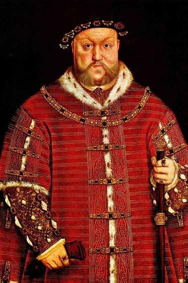 Portrait d'Henri VIII par Hans Holbein le Jeune en 1542.