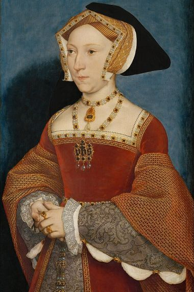 Jeanne Seymour, troisième épouse d'Henri VIII ; portrait réalisé par Hans Holbein le Jeune en 1536.
