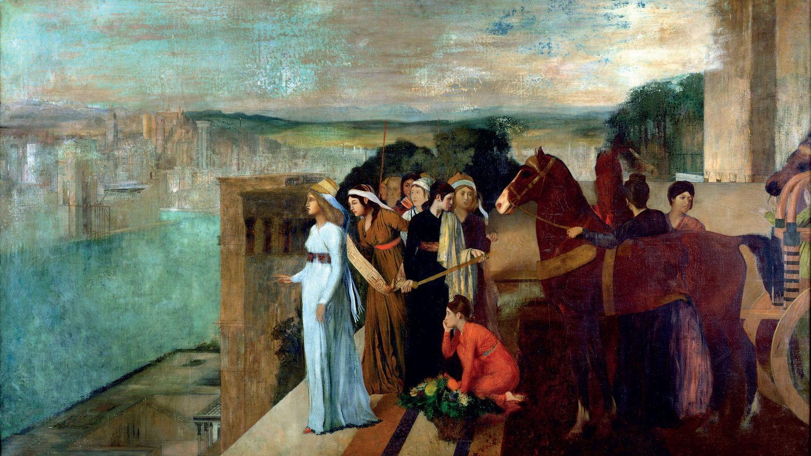 La reine Sémiramis supervise la construction de Babylone, ville dont elle est la fondatrice légendaire. Ce ...
