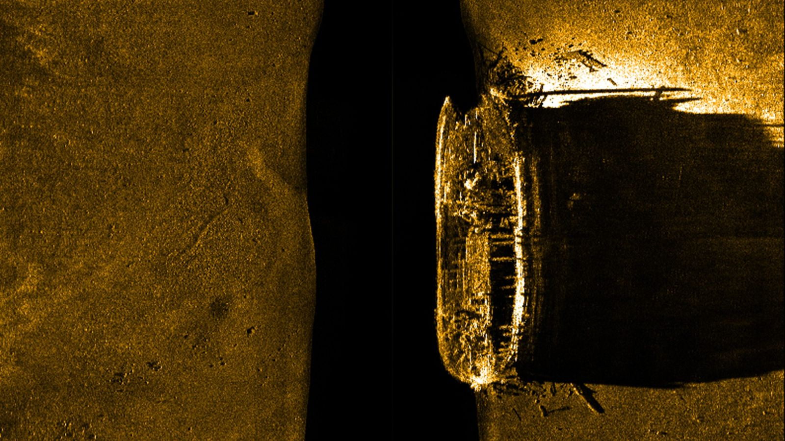 Cette image d'une épave découverte dans l'Arctique canadien représente l'un des deux navires de l'expédition maudite ...