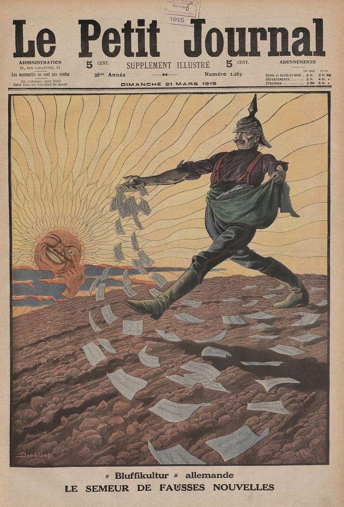 La presse française de 1914 ne brilla pas par sa tenue. Elle multiplia d'abord les rumeurs ...