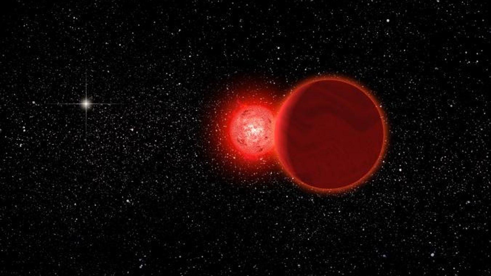 Dans cette illustration, l'étoile de Scholz et son compagne brune passe par notre système solaire, il ...