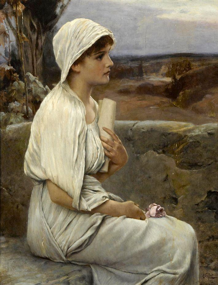 Représentation imaginaire d'Hypatie d'Alexandrie, femme savante née entre 355 et 370.
