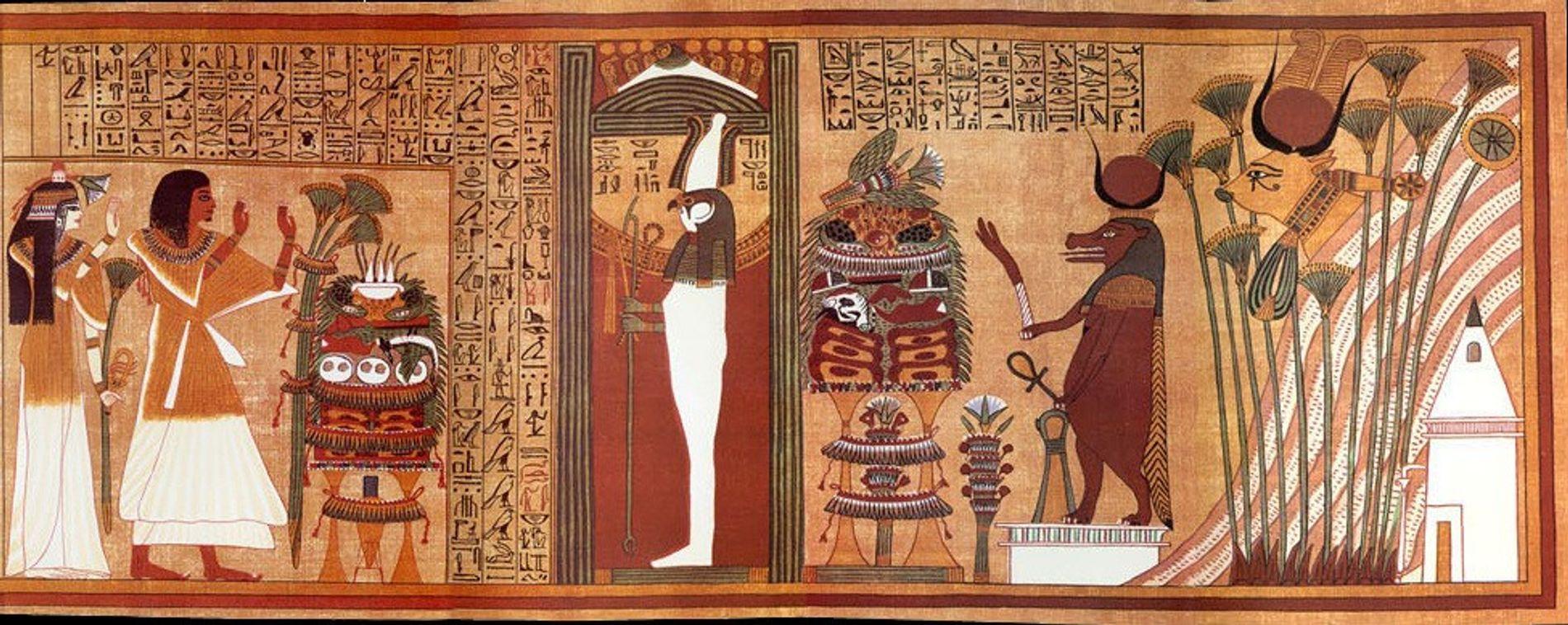 Papyrus d'Ani, vers 1200 avant notre ère (Nouvel Empire égyptien)
