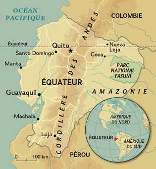 Carte de l'Équateur.