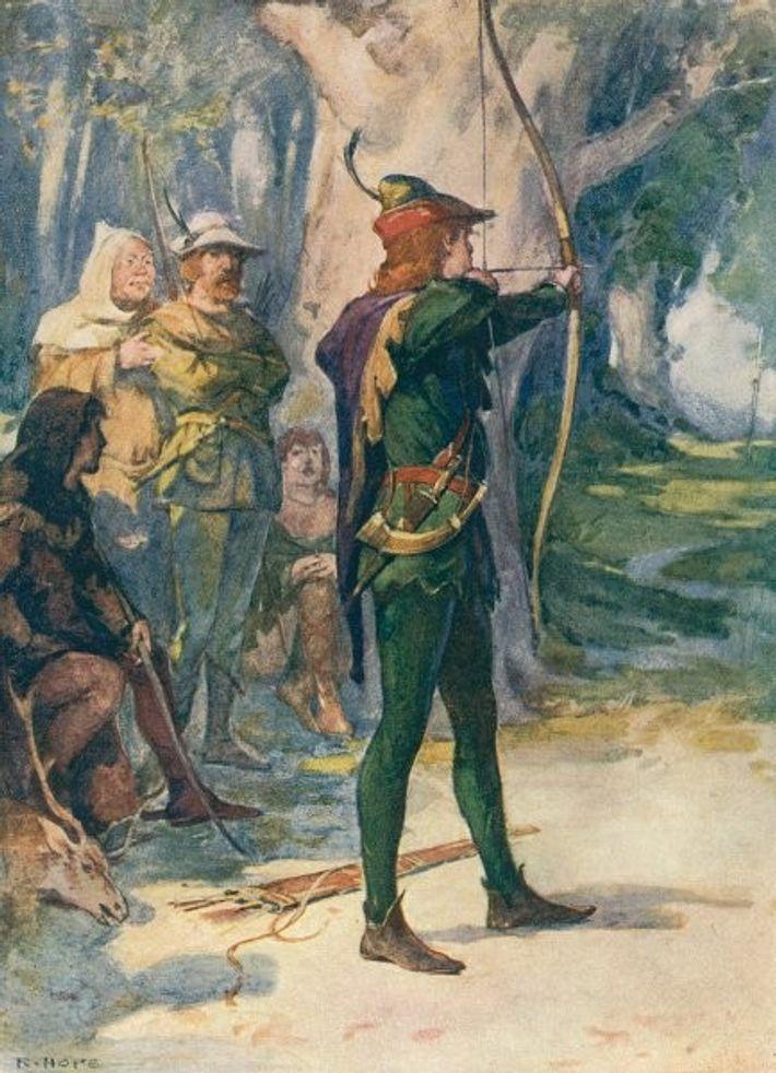 Robin des bois représenté par Robert Hope.