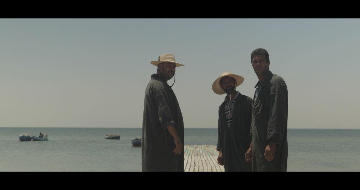 Portrait aux trois pêcheurs, Djerba, Tunisie, 2018
