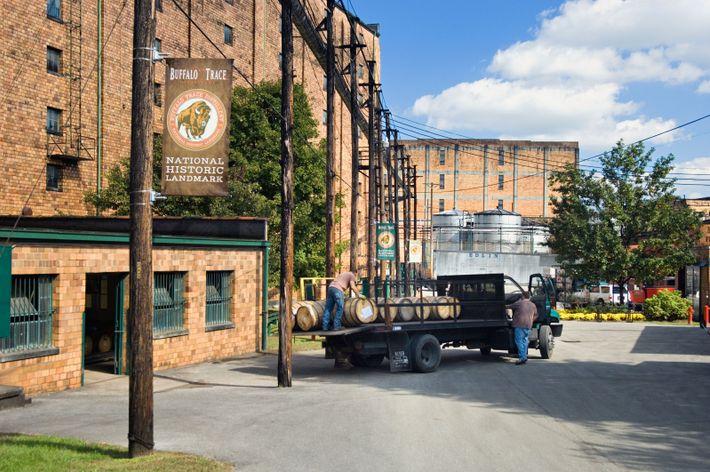 Impossible d'évoquer le Kentucky sans parler de bourbon, ni visiter une distillerie, comme la Buffalo Trace ...