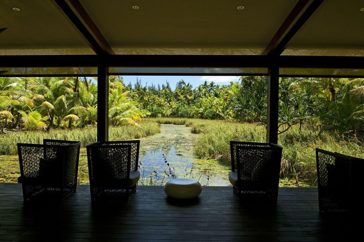 La photo a été prise depuis le spa Varua Te Ora. The Brando, qui comprend trente-cinq ...