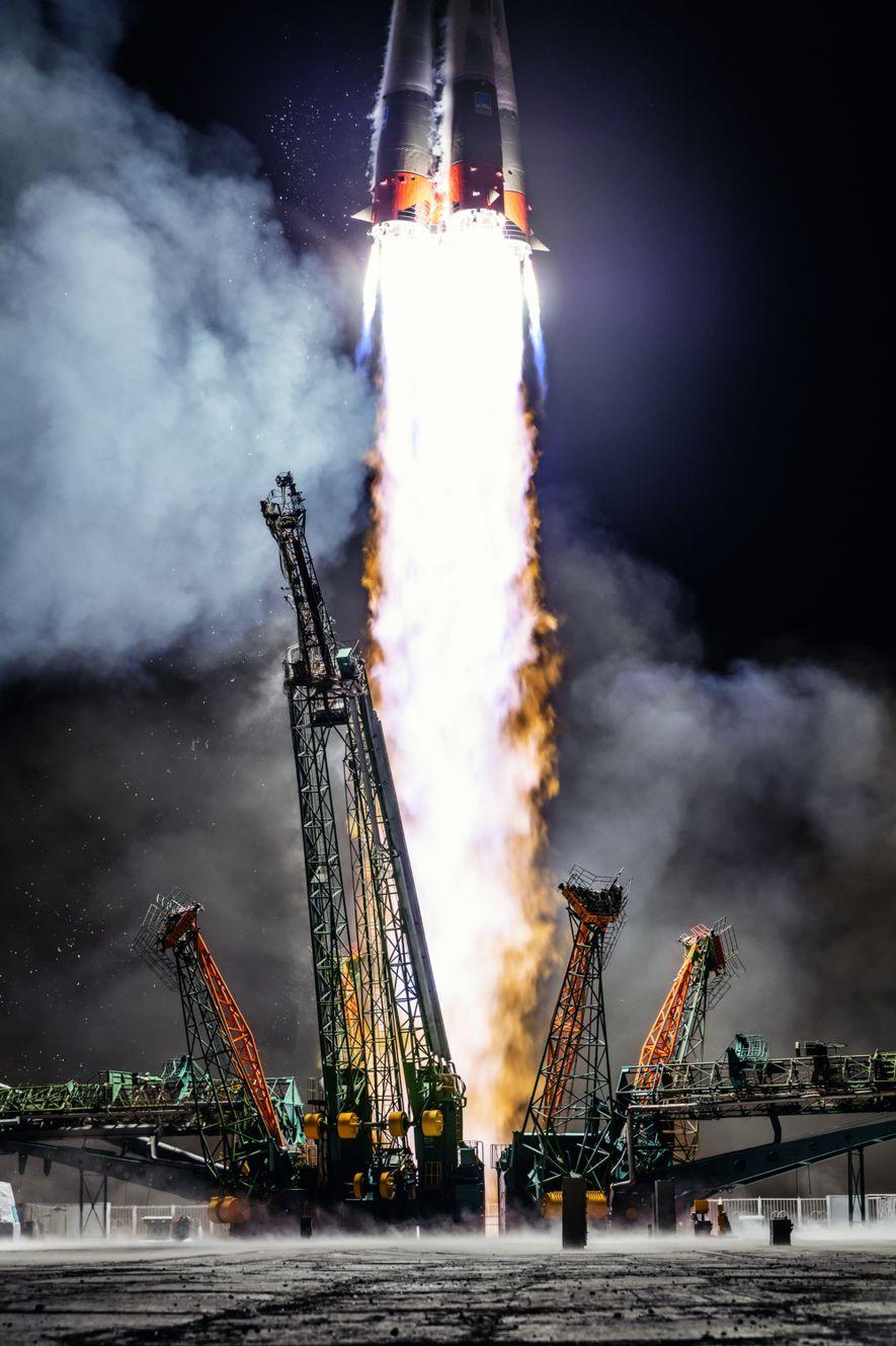 La Russie lance une fusée Soyouz en mars 2019 depuis Baïkonour.