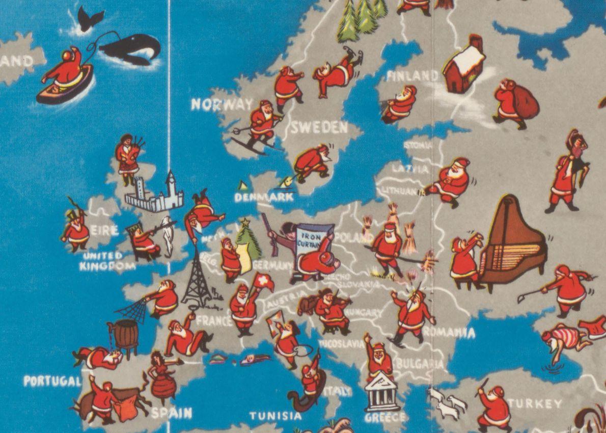 En Europe, le père Noël joue de la cornemuse en Écosse, du violon en Yougoslavie et ...