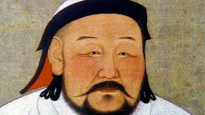 Portrait de Gengis Khan.