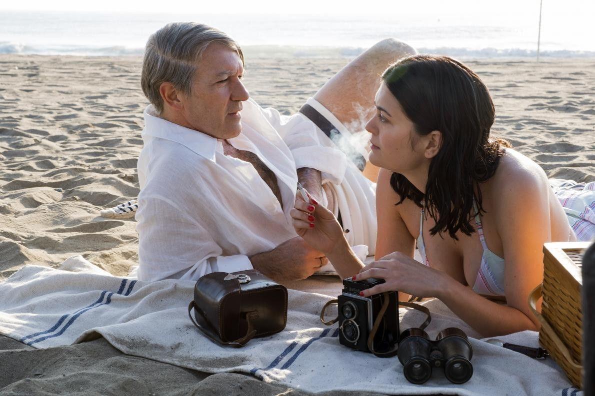 Antonio Banderas et Samantha Colley sur le tournage de Genius : Picasso