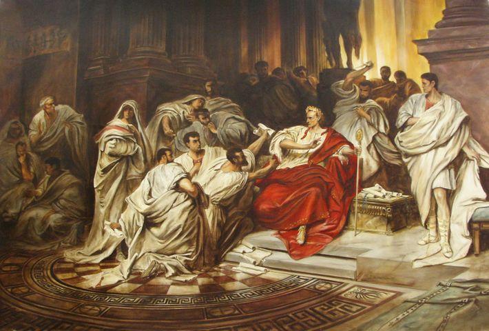 """""""Meurtre de César"""", tableau de Karl Theodor Von Piloty réalisé en 1865."""