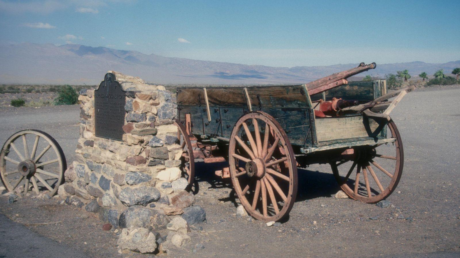 Le site de « Burnt Wagons », « chariots brûlés », dans la Vallée de la ...
