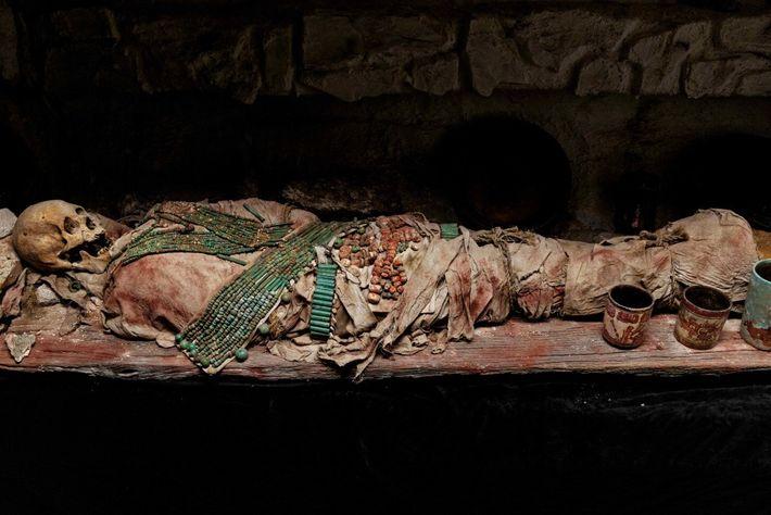 GRIFFE DE FEU – Reconstitution de la sépulture d'un roi (sans doute Griffe de Feu, mort ...
