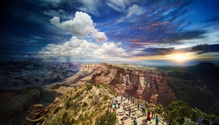 Wilkes a passé 27 heures à capturer cette image du South Rim dans le Grand Canyon ...