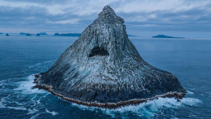 Le Te Tara Koi Koia (« la pyramide ») est l'unique site de reproduction de l'albatros ...