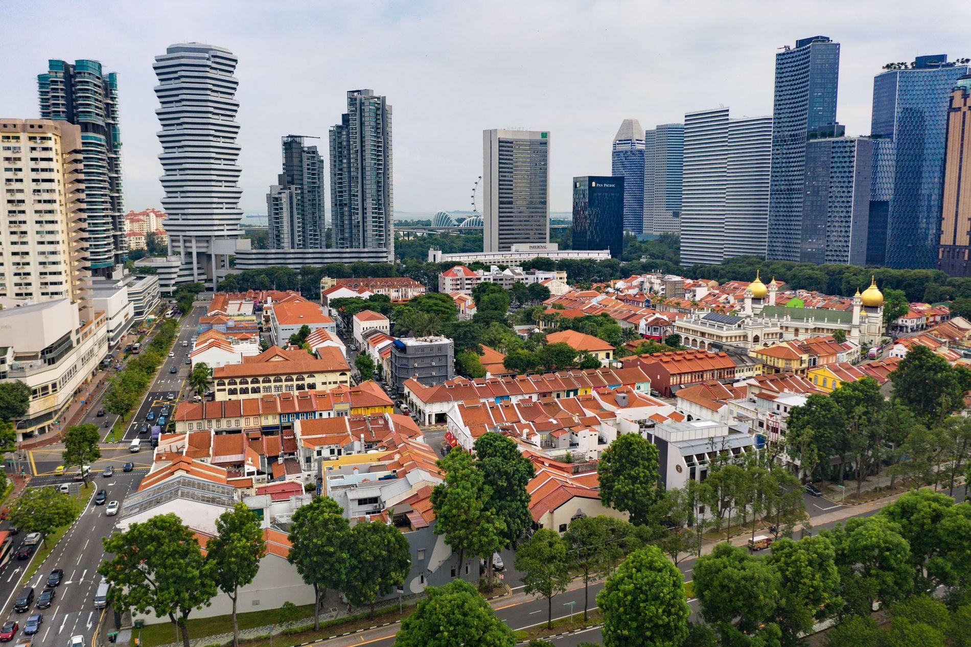 À Singapour, le gouvernement a préservé Kampong Glam, un quartier musulman du XIXe siècle bâti autour ...